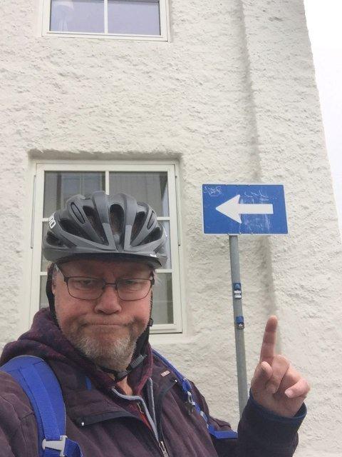 I en sykkelby som Kongsberg er det viktig at man kan sykle i begge retninger.
