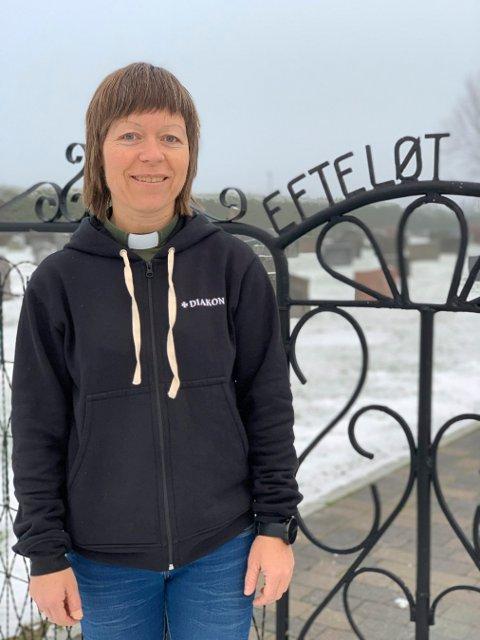 NY I TJENESTEN: Torunn Nateland Utvær (49) er fersk barne- og ungdomsdiakon i Sandsvær.