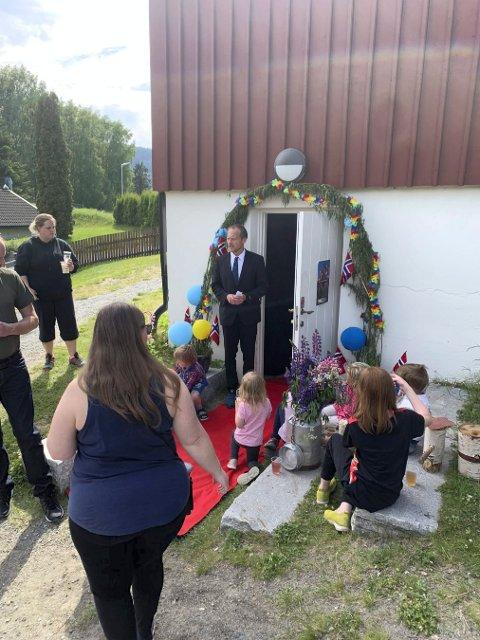 Filmvisning i Bjørkebakken barnehage.