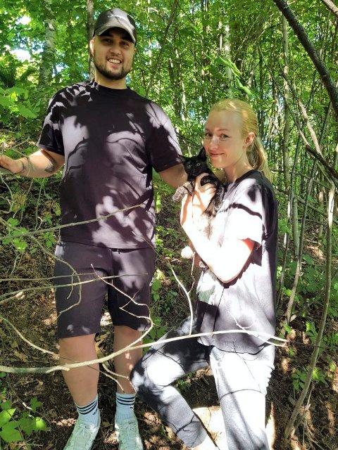 HJERTELIG GJENSYN: Bjørn Erik Strand og Ida Marie Slette kan endelig være sammen med Zelda igjen.