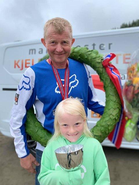 NORGESMESTER: Pål Anders Ullevålseter ble norgesmester i veteranklassen i enduro-NM. FOTO: PRIVAT
