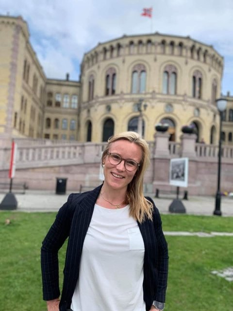 SKAL SNAKKE OM PSYKISK HELSE: Line Spiten (40) gleder seg til å delta på Høyres landsmøte. Hun skal snakke om viktigheten av rask psykiskhelsehjelp.