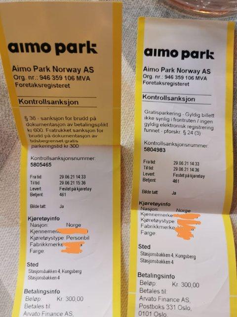 DAGENS FANGST: Lite som slår den deilige følelsen av å få parkeringsbot, bortsett fra to bøter da selvsagt.