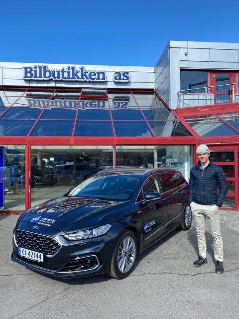 Skiskytter Mats Øverby håper å kunne plukke opp flere nyttige tips fra rallymester Anders Grøndal, i forbindelse med sin nye sponsoravtale.