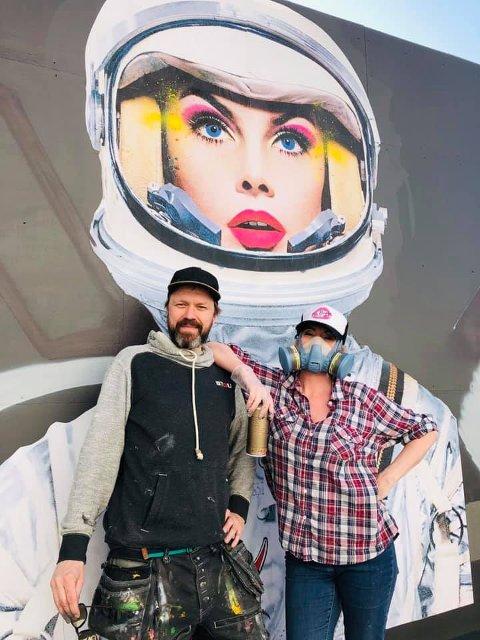 KUNSTNERE: Espen Andreas Bøhn og Hilde Bugge står bak kunstprosjektet.