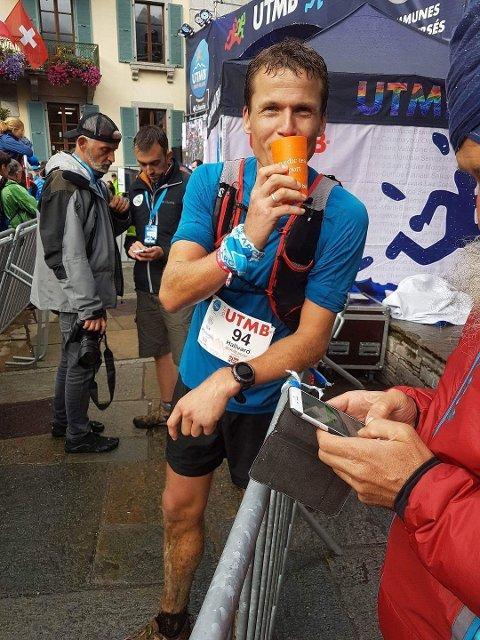 Her er Hallvard Schjølberg under fjorårets UTMB hvor han løp inn på en 28. plass.
