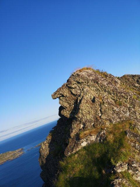 Kjent sti: Askild Vatnbakk Larsen har gått samme sti ut til Brurstolen mange ganger, men det var først denne uken han oppdaget formasjonen i fjellet.