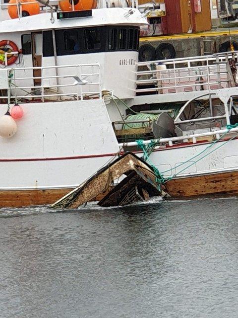 """STORFANGST: Her er """"Karl-Viktor"""" på tur på land med båtfangsten."""