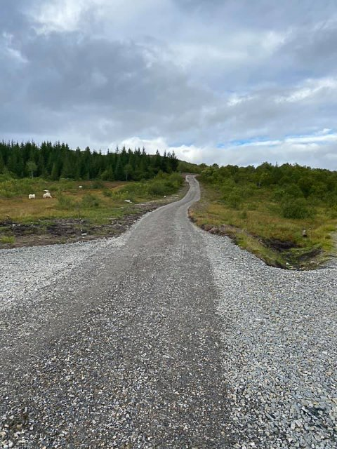 FERDIG: Turstien til Skulbruheia er ferdigstilt.