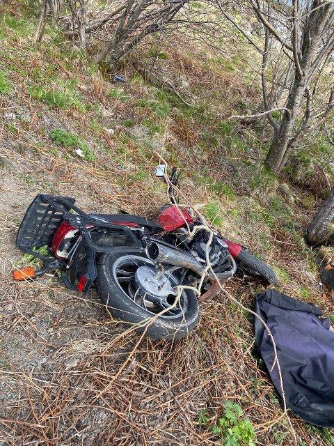 FUNNET: Slik så motorsykkelen ut da den ble funnet igjen.