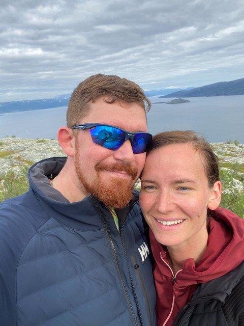 FRA NORD TIL SØR: Sondre og Monica Kristoffersen starter snart et nytt kapittel over 2000 kilometer hjemmefra.