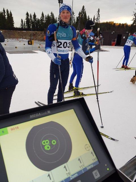 GULLGUTT: Vegard Jermstad tok gull under prøve-NM i skiskyting i Granåsen lørdag etter strålende levering på standplass.
