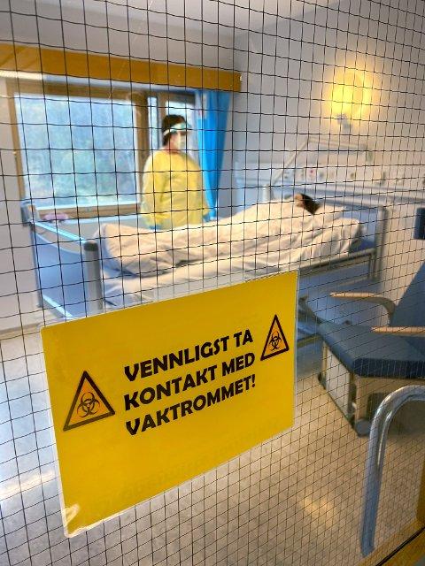 ISOLAT: Sykehuset Namsos ar spesialrigget rom for å ta imot covid 19-pasienter som må være i isolat.