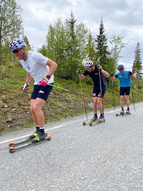 PÅ SAMME LAG: Her er Thomas Hjalmar Westgård på trening med Emil Iversen. Kommende sesong skal de representere samme klubb.