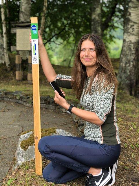 IVRIG: Natt til torsdag ble Rita Margrete Jensen den første i Namsos kommune til å ha tatt alle 150 stolpene i kommunen.