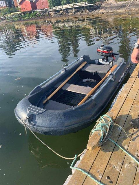 UKJENT EIER: Denne båten ble funnet i Vemundvik etter brukstyveri, men politiet vet ikke hvem eieren er.
