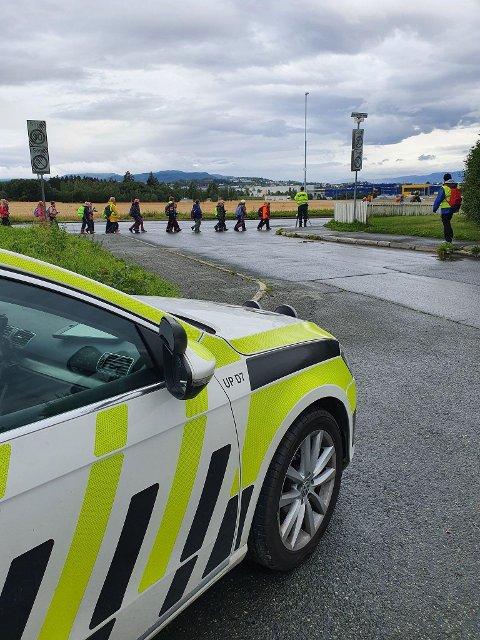 Dette bildet ble tatt av UP onsdag på en kontroll i Trondheim. Da måtte elleve sjåfører ta i mot et forelegg.