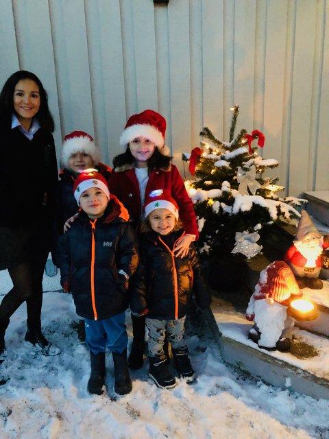 Andrea Johanna B. Mæhlum og familien på er veldig glad i julen. Nå vil de dele gleden med noen som trenger et sted å være på julaften.