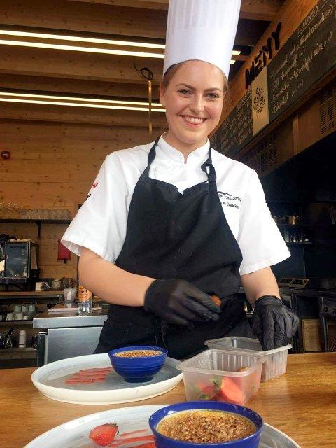 Kine Renate Bakken har ikkje angra eit sekund på at ho valde å bli kokk.