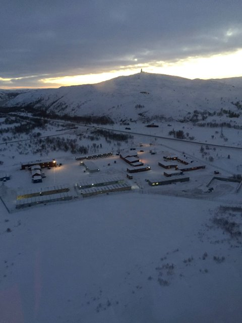 VESTLEIREN: Her er leiren fotografert fra lufta. Foto: Privat