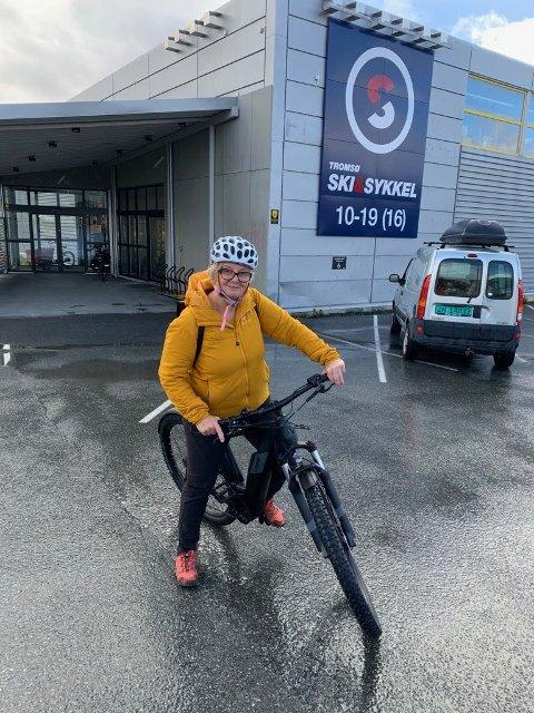 EL-SYKKEL: Marit Rein kjøpte sykkelen sin i oktober. Nå er den stjålet.