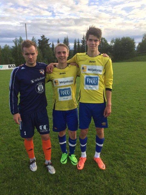 Målscorere: Kim Rune Ovesen (fra venstre), Stian K. Haugen og Christoffer Grøterud.