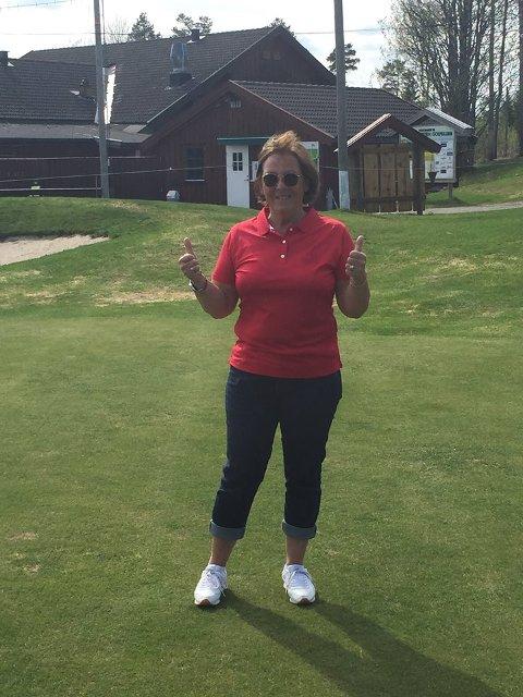 LØRDAG ÅPNER VI SESONGEN: Klubbsekretær i Gjøvik & Toten golfklubb, Astrid Bollum ønsker gamle og nye golfere velkommen