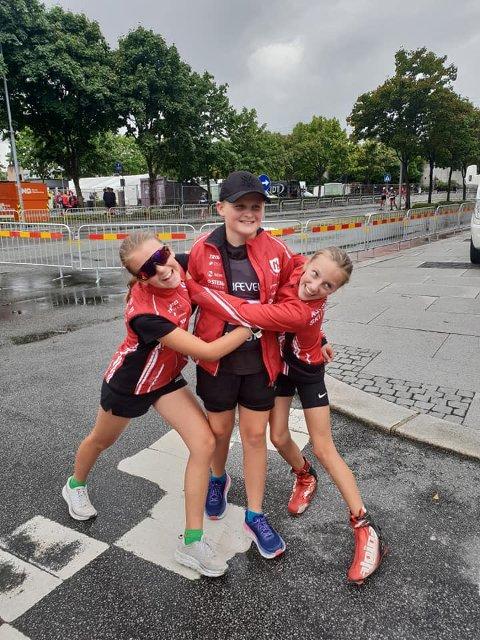 Denne trioen fra Nordre Land hadde en stor opplevelse under Blink-festivalen. Fra  venstre Sara Agnethe Granvang Tronrud, Jonathan Heimdal og Lene Jøranli. Foto: Privat