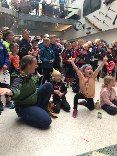 Glade: Barna i Hunnshovde barnehage vant hovedpremie på 25.000 kroner i CC-løpet