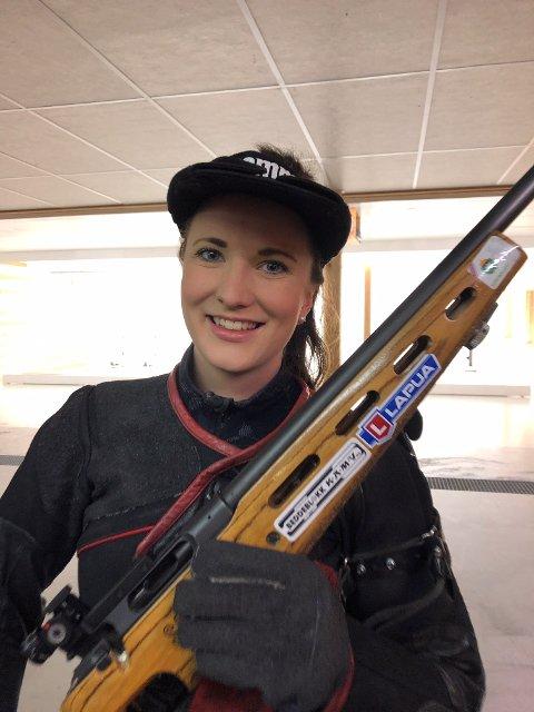 ANDREPLASS Anne Ingeborg Sogn Øiom skjøt til andreplass i Bjoneroastevnet.