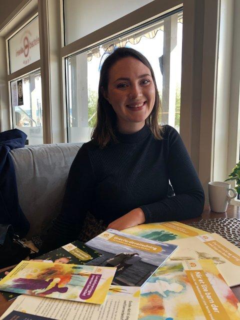GLEDE:  – Det er mye glede og latter når vi møtes, sier Mie Steine om arbeidet i Landsforeningen uventet barnedød.