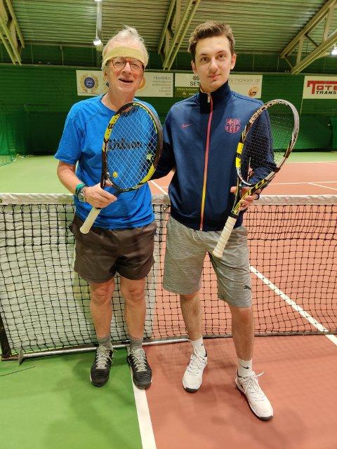 Sigbjørn Hemstad og Alexander Arsba ble klare vinnere av klubbmesterskapet til Gjøvik Tennisklubb i double. Arsba seiret også i single.