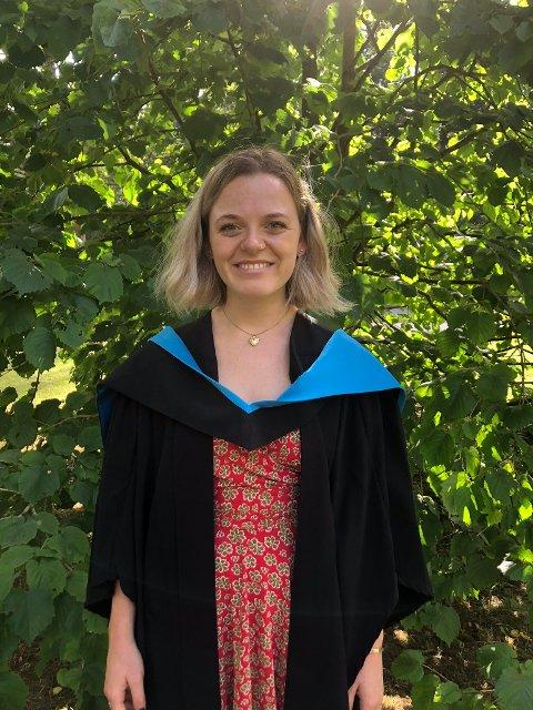 Dagmar Hopfenbeck fra Gjøvik er klar for studier ved et av Storbritannia fremste universiteter.