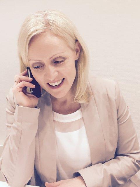 BESTE JOBB: Ingrid Roterud Mathisen er vinnerasnvarlig i Norsk Tipping. Hun mener hun har Norges beste jobb.