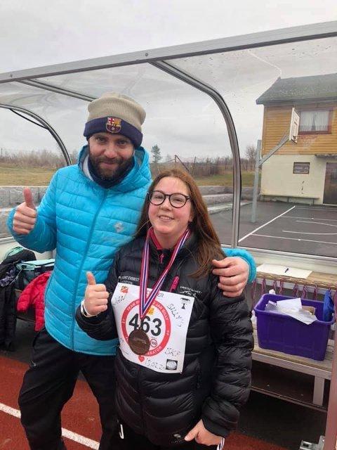 STILTE OPP: Da Jan Billy Aas arrangerte løp til inntekt for Barnekreftforeningen, var Lise Kartin Jensen en av dem som stilte til start.