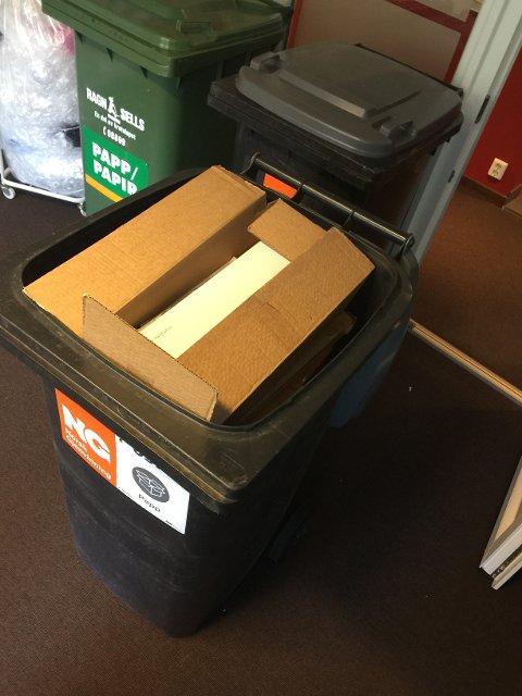 En full container er helt ufarlig. En tom container derimot...
