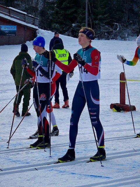 FELLESSTART: Mats Tallakstad, Svarstad, klar  til start i menn 18 år.