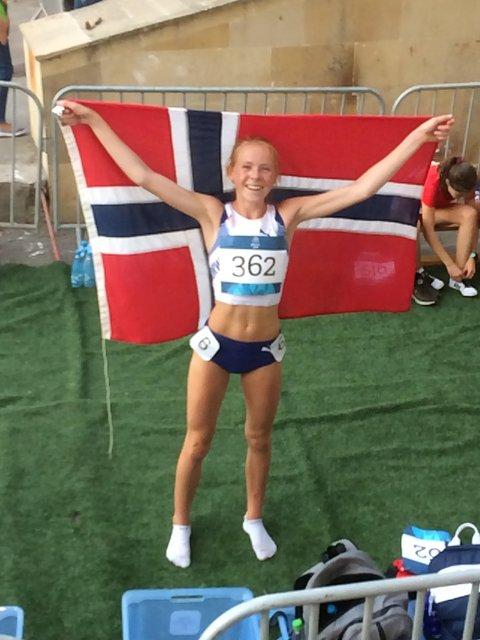 SØLVJENTE: Ina Halle Haugen tok sølv i ungdoms-OL.