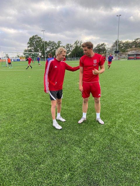 Hjemme igjen : Både Christer Smith (t.v.) og Henrik Bach Røsholt spiller for sitt kjære Halsen igjen denne sesongen. Nå gleder begge seg til å spille seriekamper igjen.