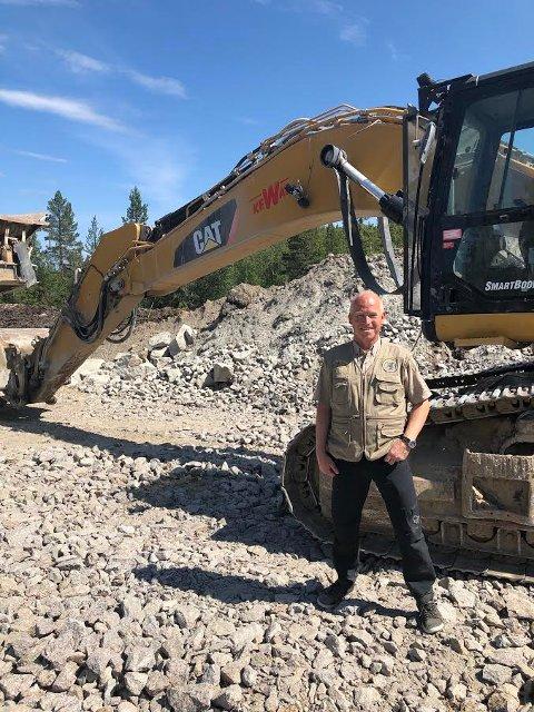 HINDER: Jan Hugo Holten i Norges Miljøvernforbund, håper flere blir med og aksjonerer mot utbyggingen i Kjølberget. Han etterlyser lokalt engasjement ute i marka.