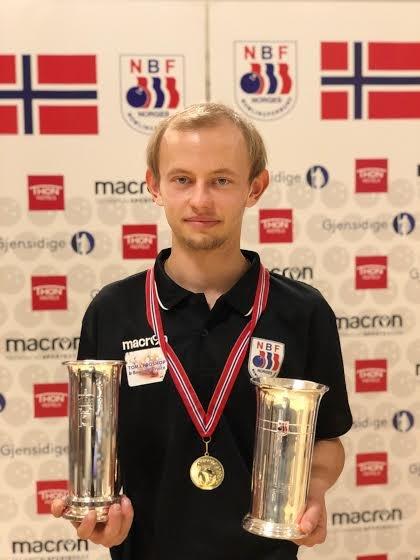 GULL OG KONGEPOKAL: Alexander Beck vant gull og kongepokal i NM.