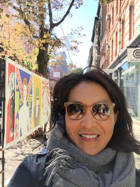 BROADWAY: Lisbeth strortrives med å ha gåavstand til de store musikalene. Her fra West Broadway.