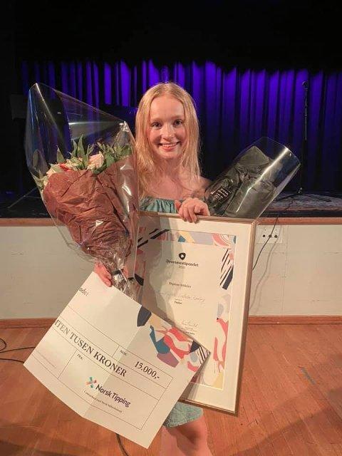 VINNER: Anna Ramberg var en av de heldige vinnerene av Drømmestipendet på 15.000 kroner.