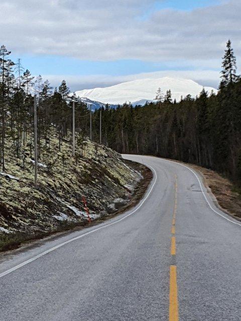 PRIORITERT: Fylkesveg 30 blir forbedret med mange millioner, blant annet takket være kurveanalyse.
