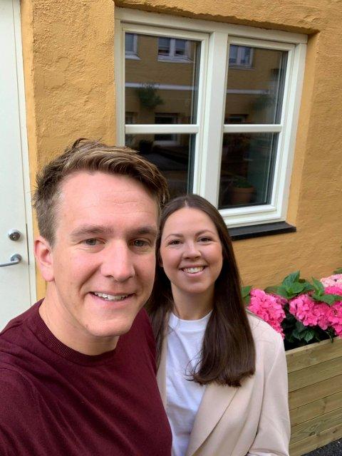 Fant hyggelig hus: Nikolai og Karoline Solberg Kjønniksen har blitt i Oslo, etter å ha vurdert Færder.
