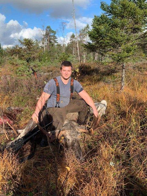 10-tagger: Atle Skammelsrud skjøt storoksen for Degernes elgjaktlag.