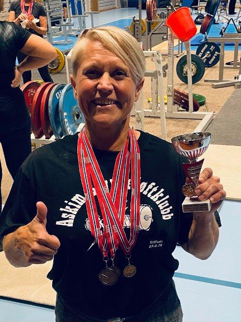 Medaljevinner: Anita Traasdahl Sæther (51) har all grunn til å være stolt av innsatsen i sitt første NM.