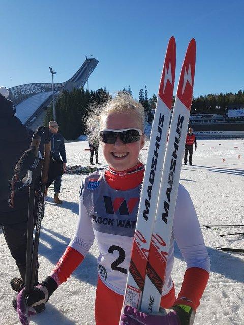 Oda Leiråmo gikk et godt langrenn i Holmenkollen. Nå venter hoppbakken.