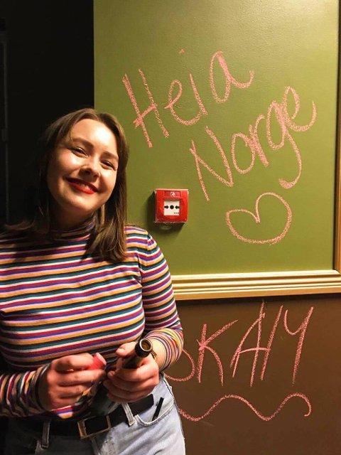 Andrea (19) studerer i København.