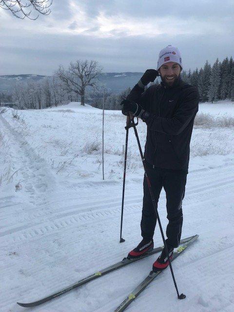 FORNØYD: Max Gythfeldt fikk seg en fin skitur på Storøya. Foto: Eirik Nørgaard